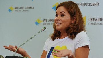 Пресс-конференция Марии Гайдар в Киеве. Архивное фото