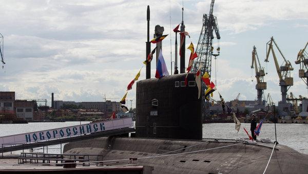 Дизель-электрическая подводная лодка Новороссийск. Архивное фото