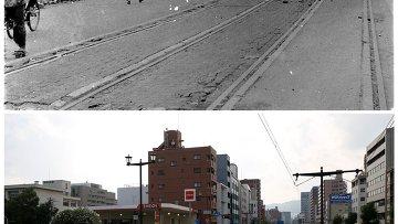 Хиросима после атомной бомбы. Архивное фото