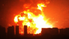 Мощные взрывы на складе опасных веществ в Тяньцзине. Съемки очевидцев