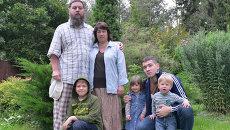 Протоиерей Евгений Гнатенко с семьёй