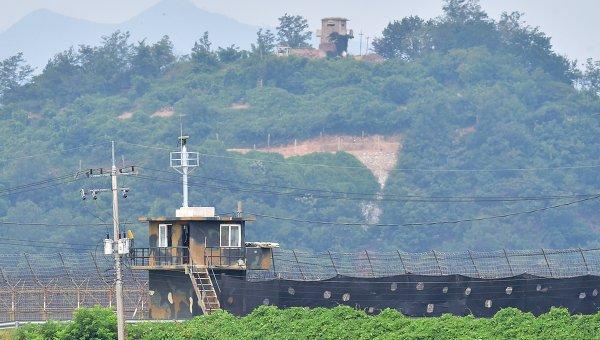 Граница между КНДР и Южной Кореей. Архивное фото