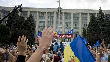 Акции протеста в Кишиневе.