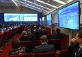 Информационный центр ЦИК во время подведения предварительных итогов выборов в субъектах Российской Федерации