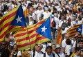 Празднование Дня Каталонии в Барселоне