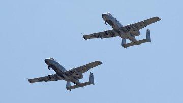 Штурмовик ВВС США A-10 Тандерболт. Архивное фото