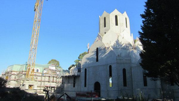 Строящийся храм РПЦ в Страсбурге во имя Всех святых