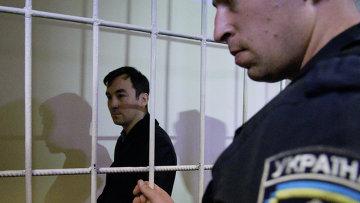 Россиянин Евгений Ерофеев, один из двух задержанных на Украине в мае 2015 года, на заседании суда. Сентябрь 2015
