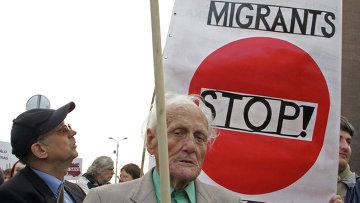 Шествие против приема беженцев прошло в Риге