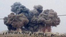 Авиаудар в провинции Идлиб, Сирия. 1 октября 2015.