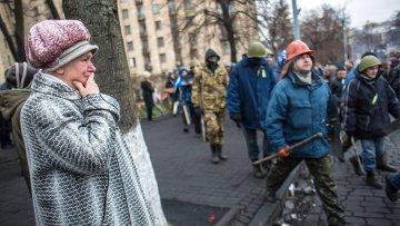 Обстановка в центре Киева. Архивное фото