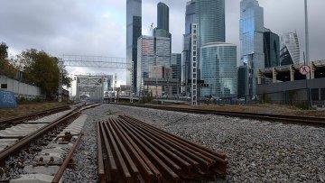 Строительство малого кольца Московской железной дороги, архивное фото