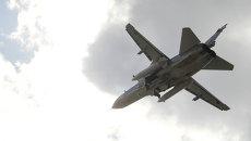 Российский бомбардировщик Су-24. Архивное фото