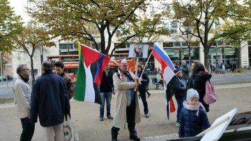 Пикет сирийцев в Берлине