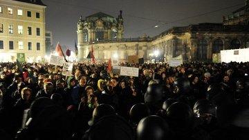 Акции сторонников и противников Pegida в Дрездене