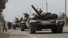 Отвод техники и вооружений ЛНР от линии соприкосновения