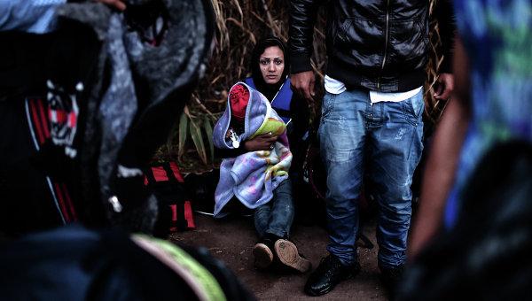 Беженцы на греческом острове Лесбос. Архивное фото