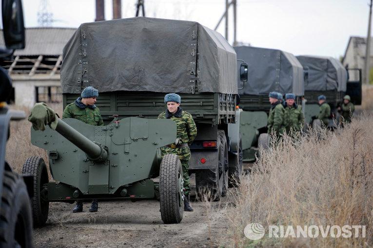 Отвод военной техники в ДНР