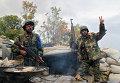 Отряд бойцов сирийского ополчения после боевого задания на севере Латакии