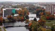 Вид на Дворцовое озеро в городе Калининграде. Архивное фото