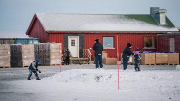 Лагерь для беженцев в Норвегии. Архивное фото.