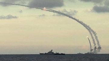 Пуск крылатых ракет Калибр. Архивное фото