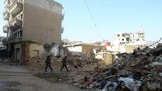 Бойцы САА в пригороде Дамаска Дахание. Архивное фото