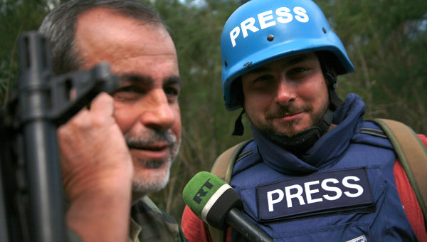 Корреспондент арабской редакции RT Саргон Хадая. Архивное фото