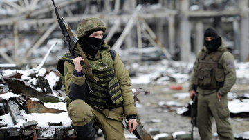 Ополченцы Донецкой народной республики (ДНР) на территории Донецкого аэропорта. Архивное фото