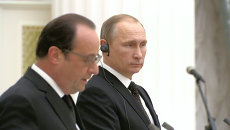 Встреча Путина и Олланда: заявления о борьбе с ИГ и сбитом Турцией Су-24
