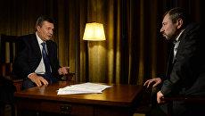 Бывший президент Украины Виктор Янукович и Захар Виноградов