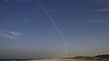 Пробный пуск противоракеты комплекса Хец-3 (Стрела-3) в Израиле