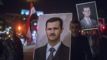 Портреты сирийского президента Башара Асада. Архивное фото