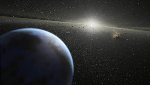 Так художник представил астероидный пояс в Солнечной системе