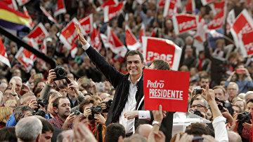Лидер Испанской социалистической рабочей партии Педро Санчес. Архивное фото.