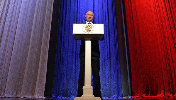 Президент РФ В.Путин посетил торжественный вечер, посвящённый Дню работника органов безопасности