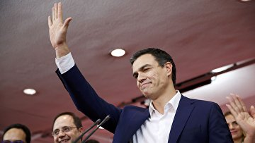Лидер Испанской социалистической рабочей партии (ИСРП) Педро Санчез