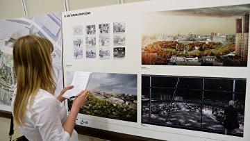 Эскиз проекта победителя конкурса на разработку архитектурной концепции парка на Ходынском поле итальянской компании LAND Milano Srl. Архивное фото