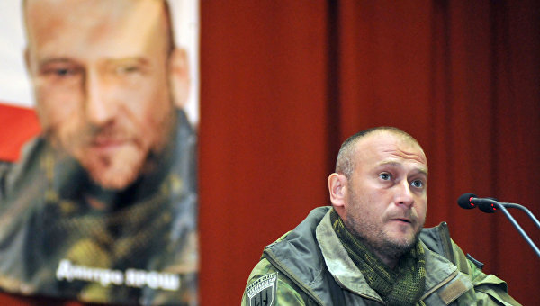 Встреча лидера Правого сектора Дмитрия Яроша с жителями Львова