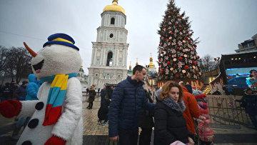 Новогодний Киев. Архивное фото