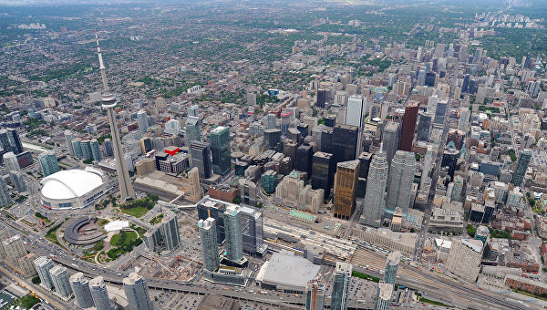Вид на Торонто, Канада. Архивное фото