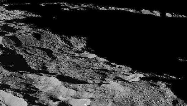 Фотография, полученная зондом Dawn с последней орбиты