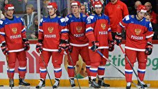 Игроки молодежной сборной России по хоккею. Архивное фото