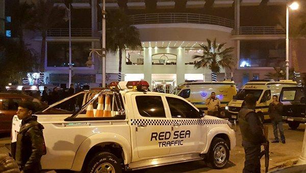 Отель в Хургаде, на который было совершено нападение, 8 января 2016