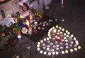 Парижане выложили сердце из свечей в память о жертвах терактов 2015 года