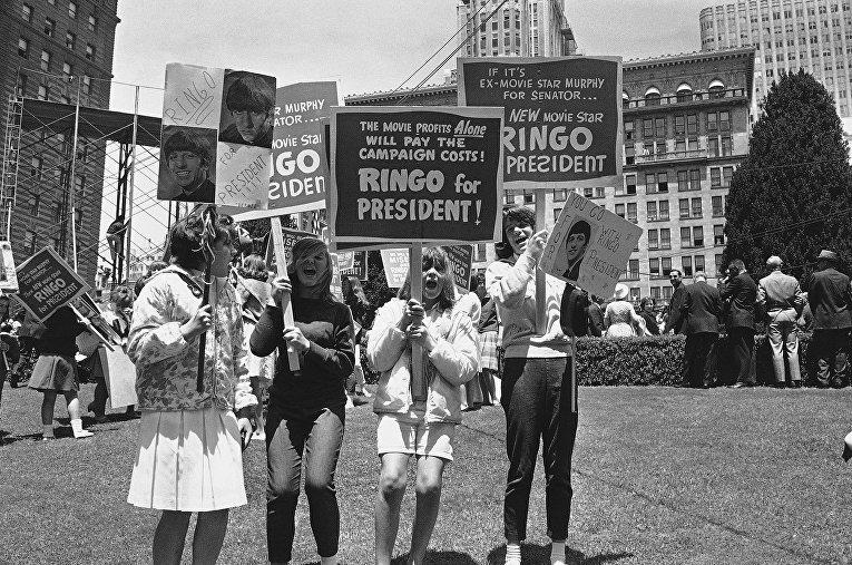 Фанаты Участника группы The Beatles Ринго Старра. Сан-Франциско, 1964