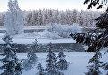 Река Шуя в морозный день