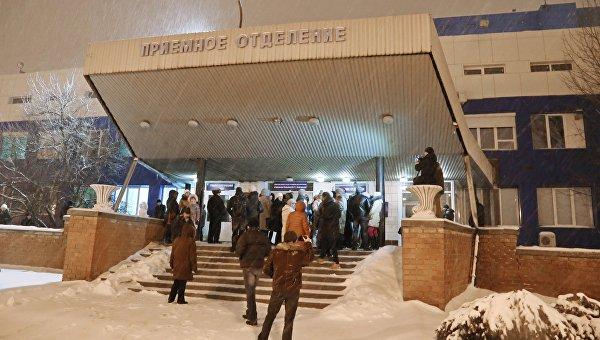 Участники акции в память о пациенте, погибшем от рук врача городской больницы №2 в Белгороде. 12 января 2016