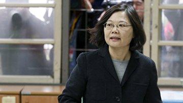 Кандидат на пост главы Тайваня Цай Инвэнь, 16 января 2016