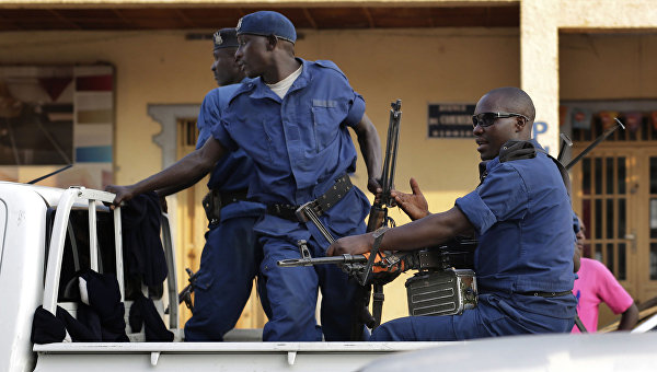Полиция в городе Бужумбура, Бурунди. Архивное фото